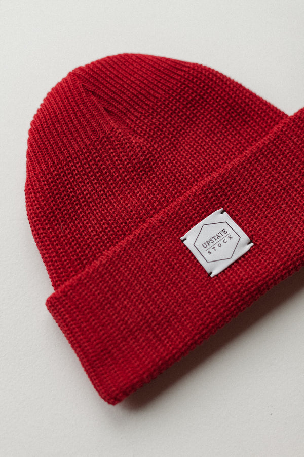 Eco-Cotton Watchcap Cherry Red