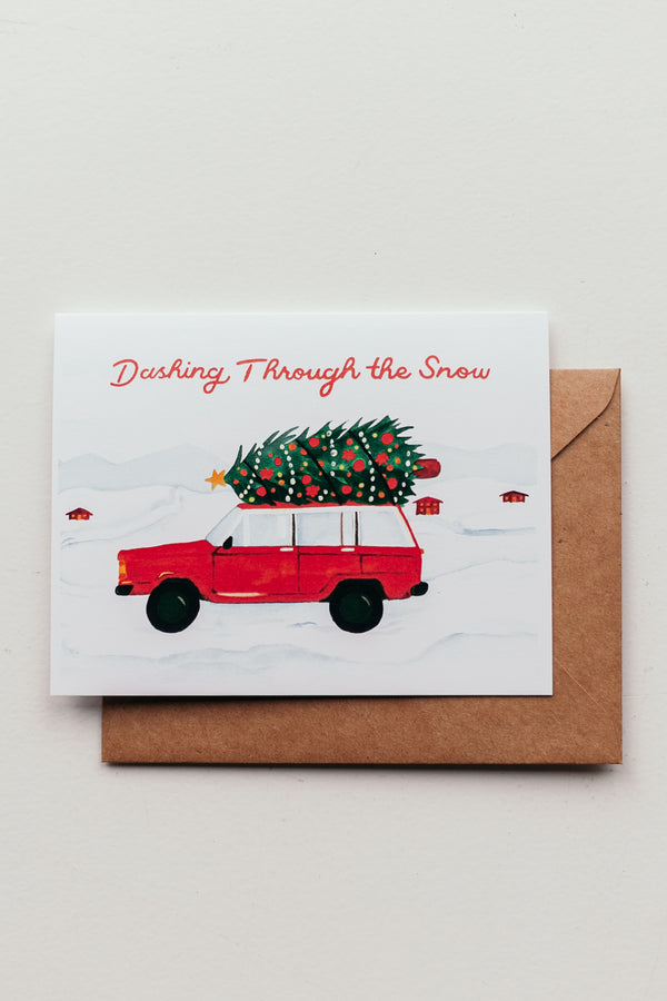 Dashing Through the Snow Card