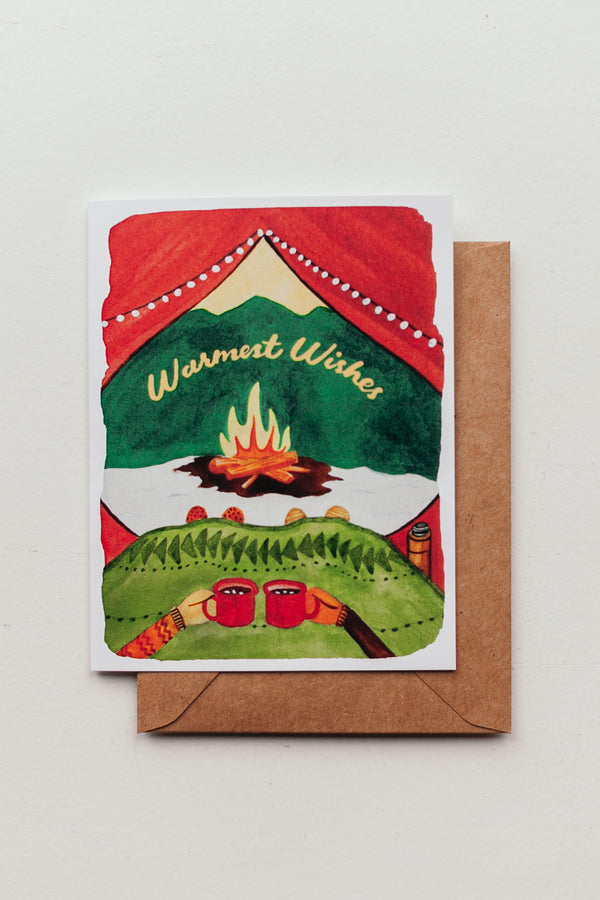Warmest Wishes Tent Card
