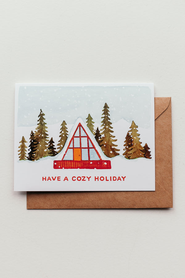 Cozy A-Frame Holiday Card