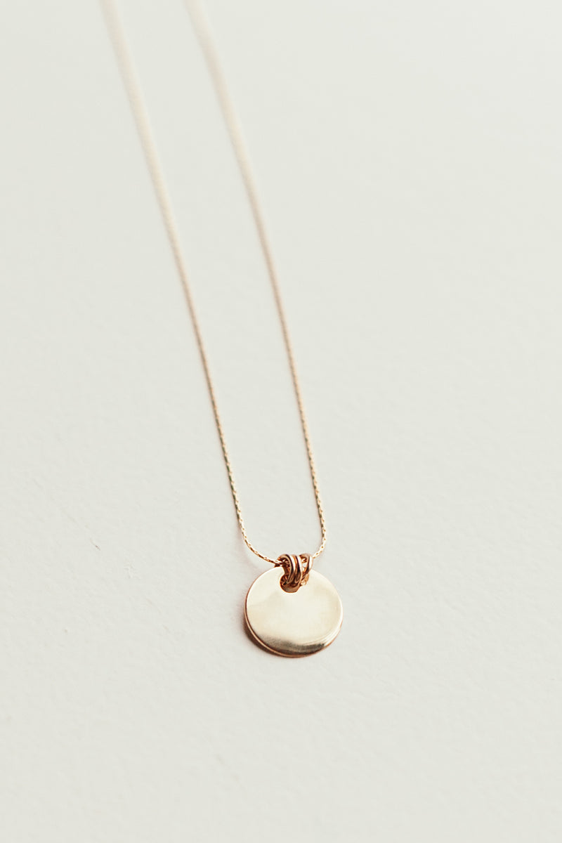 Three Ring Coin Necklace