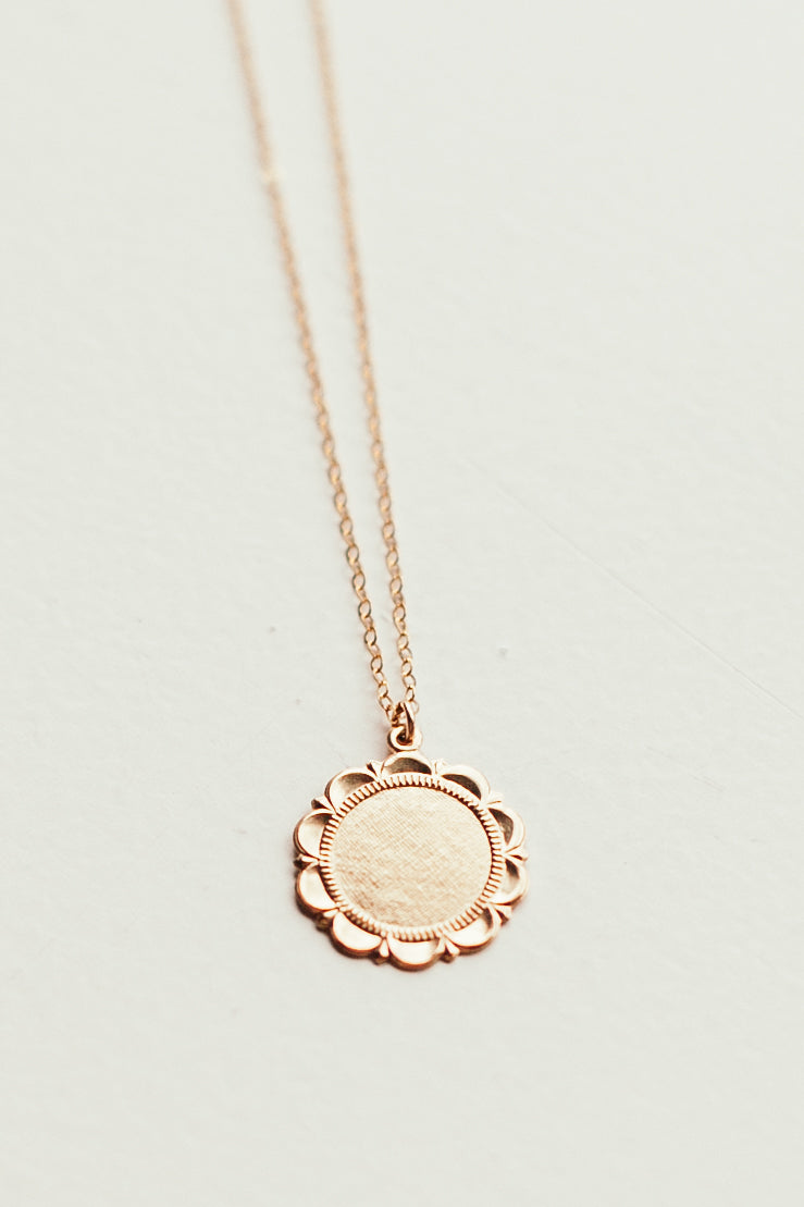 Halo Coin Necklace