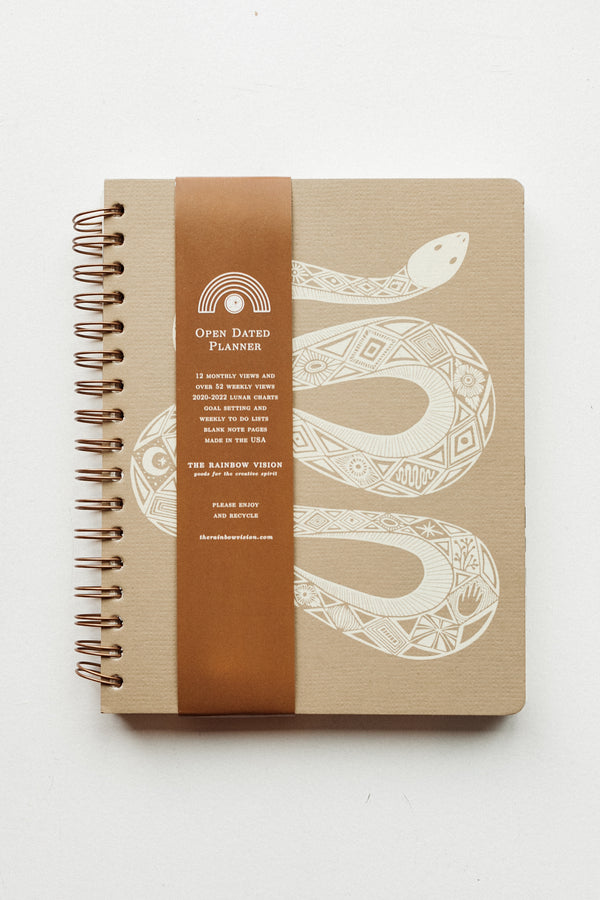 Serpentine Open Dated 12 Month Planner Oak