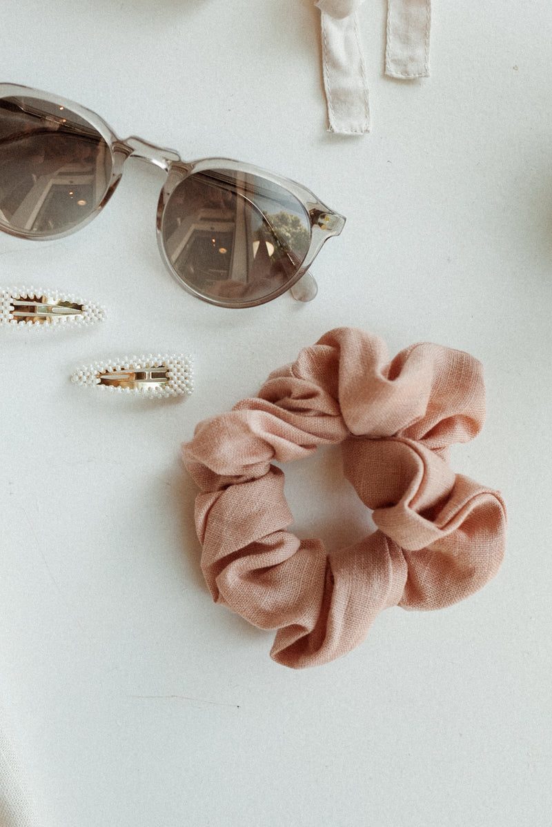 Seashell Linen Scrunchie