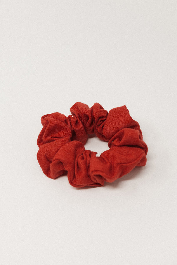 Poppy Linen Scrunchie