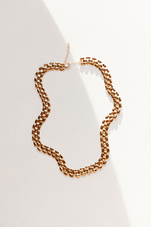 Brick Chain Necklace