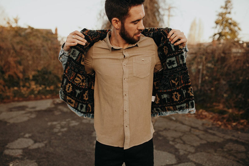 Men At Work Cord Shirt Camel