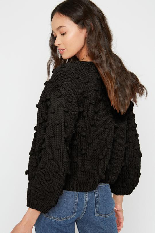 Rose Cardigan Black