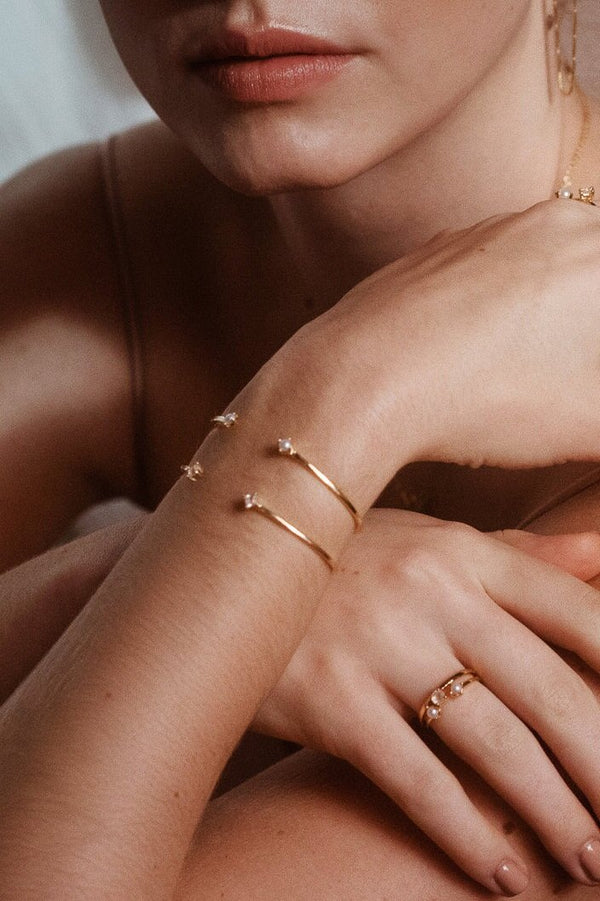 Alex Cuff Gold Pearl