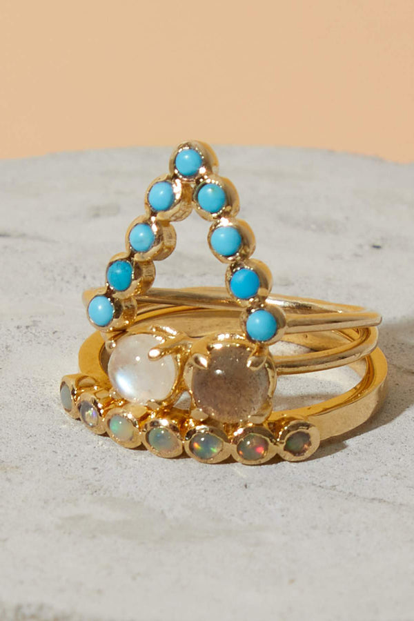 Crown Ring Opal
