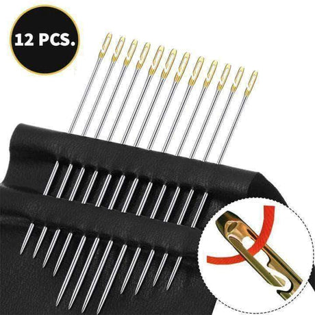 12 Pcs Super Easy Self Threading Needles Sewing Needles 200007763:201336106;14:200004890