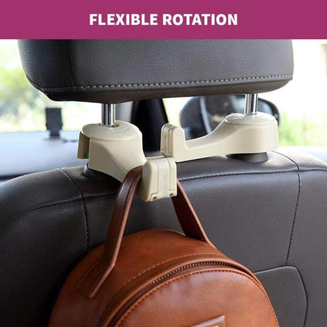 2 in 1 Car Backseat Phone Mount & Hook Hanger Stowing Tidying