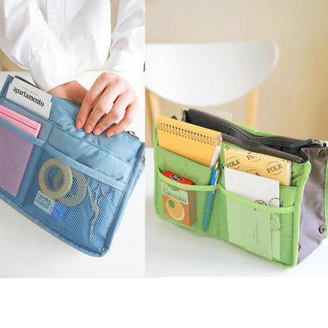 Bag Tidy Travel Pouch  Double-Zipper Organizer Storage Bags