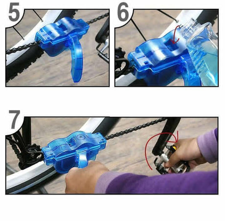 Bicycle Chain Wheel Cleaner Tools Bicycle Repair Tools Scrubber and Brush Ser 14:29