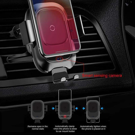 Car Mount Qi Wireless Charger Black 14:193