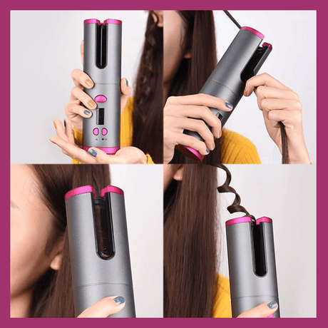 Cordless Automatic Hair Curler Curling Irons 14:29