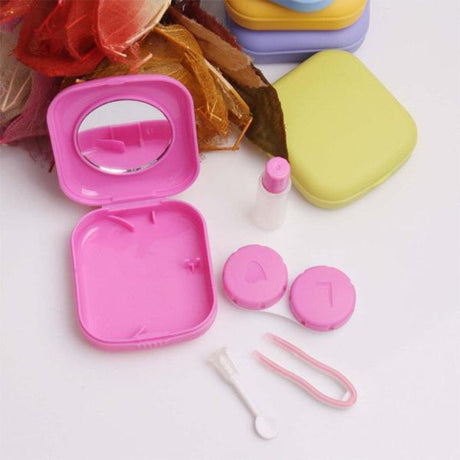 Cute Compact Travel Contact Lens Kit Accessories