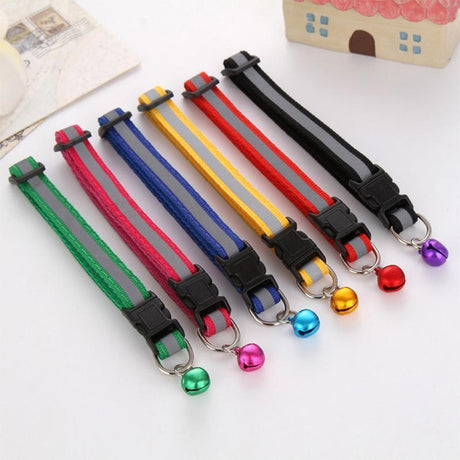 Cute Safety Buckle Bell Strap for Cats Cat Collars & Leads