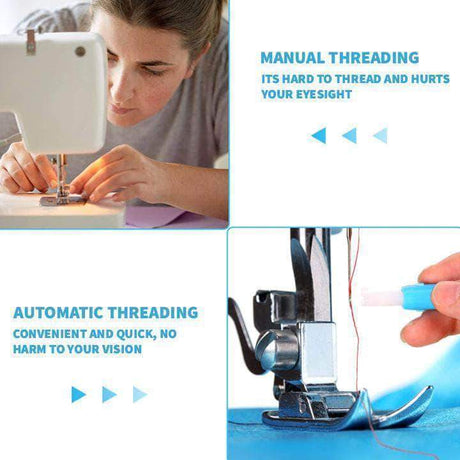 Easy 2-in-1 Sewing Machine Needle Inserter & Threader Sewing Tools & Accessory 14:1254;200007763:201336099
