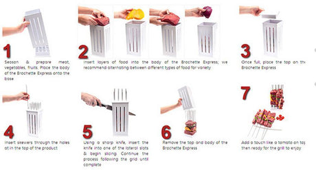 Easy Barbecue Kebab Maker Tool Sets