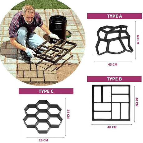Easy Path Maker™ Pavement Mold Paving Molds