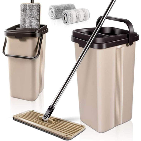 Flat Squeeze Mop With Bucket Mops