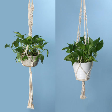 Hanging Vintage Knotted Lifting Rope Hanging Baskets