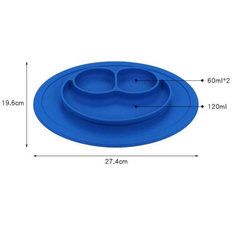Infants Silicone Feeding Food Plate Dishes