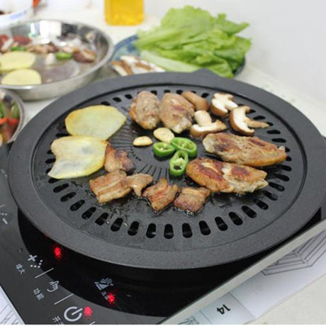 Korean Style Barbecue Smokeless Grill Pan Tool Sets