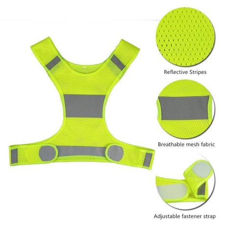 Lightweight Safety Reflective Vest Cycling Walking Cycling Vest
