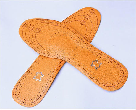 Orthotic Arch Support  Wear Resistant Leather Insoles