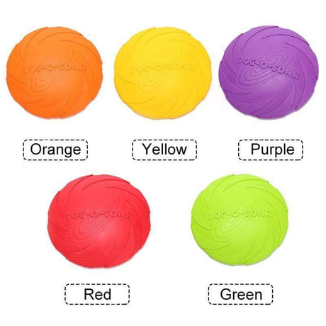 Outdoor Soft Eco Friendly Silicone Dog Frisbee Dog Toys