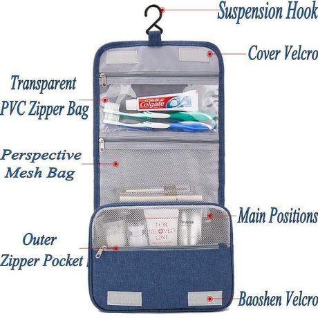 Portable Cosmetic and Toiletry Hanging Bag Storage Bags