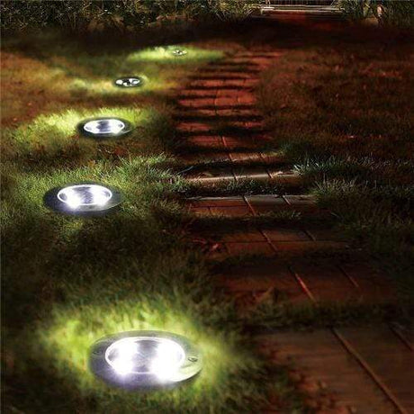 Solar Powered Disk Light Figurines & Miniatures