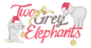 Two Grey Elephants