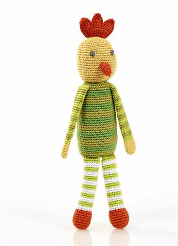 Crochet Chicken Rattle