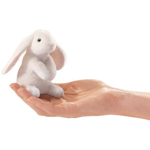 White Lop Eared Rabbit Finger Puppet