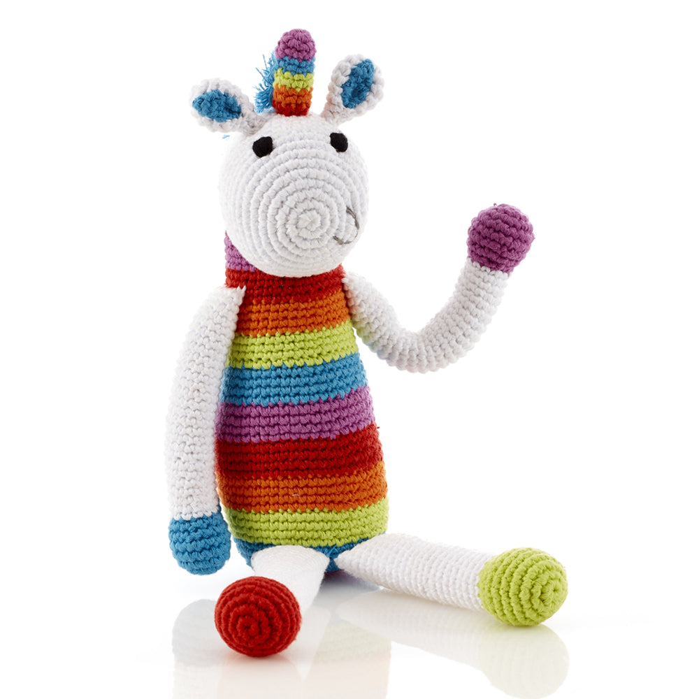 Crochet Unicorn Rattle