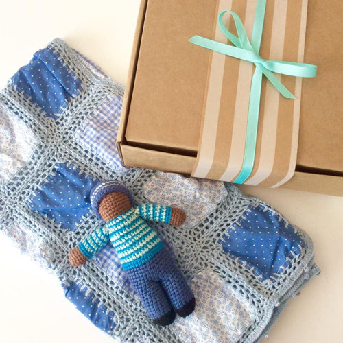 Crochet Summer Blanket - Blue