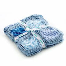 Load image into Gallery viewer, Crochet Summer Blanket - Blue