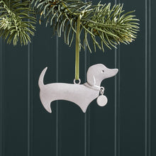 Load image into Gallery viewer, Handmade Pewter Tree Ornament - Dachshund