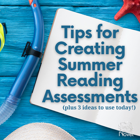 tips and ideas for summer reading assessments for middle and high school