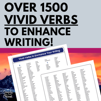 Vivid Verbs List to Enhance Writing - OVER 1500 Words!