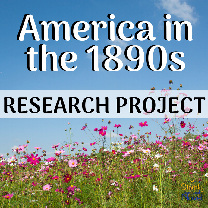 Life in America in the 1890s - Guided Research Graphic Organizer Template