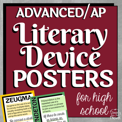Literary Device Posters - Advanced/AP Level ELA Posters