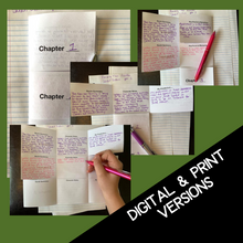 Load image into Gallery viewer, Because of Winn-Dixie Novel Study - Active Reading Note-Taking Chart Foldable Activity