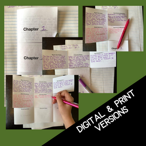 Because of Winn-Dixie Novel Study - Active Reading Note-Taking Chart Foldable Activity