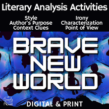 Load image into Gallery viewer, Brave New World Literary Analysis Activities Bundle