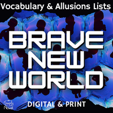 Load image into Gallery viewer, Brave New World Vocabulary Lists, Terms, Allusions