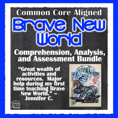 Brave New World Novel Study - Distance Learning Teaching Guide